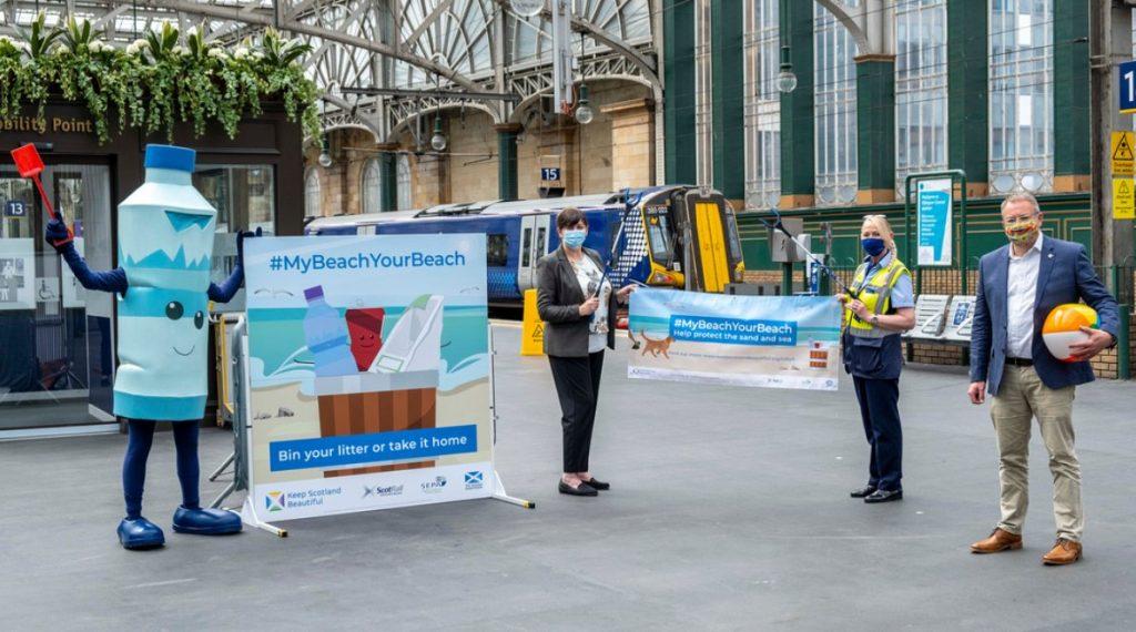 Litter awareness board