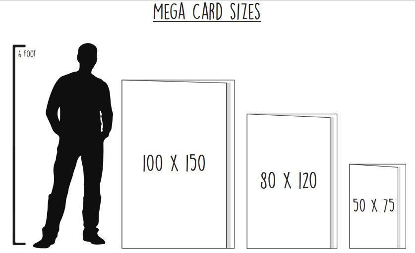 Mega cards 6 foot giant greetings card